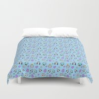 robots Duvet Covers featuring Robots by TheYUCK