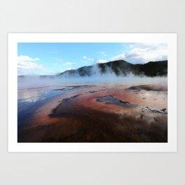 Lake of fire #1 Art Print