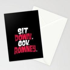 Sit Down, Gov. Romney. Stationery Cards