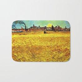 Sunset at Wheat Field by Vincent van Gogh Bath Mat