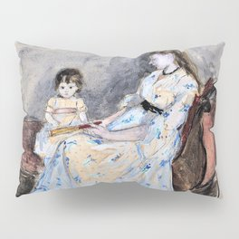 The Artist's Sister, Edma, with Her Daughter, Jeanne - Digital Remastered Edition Pillow Sham