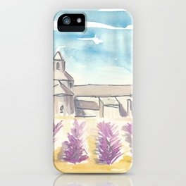 Provence Lavender and Abbey iPhone Case