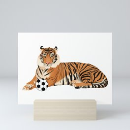 Soccer Tiger Mini Art Print