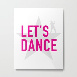 David Bowie - let's dance/pink Metal Print