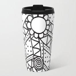 Doodle Art Flowers - Pathways that Connect 1 Travel Mug