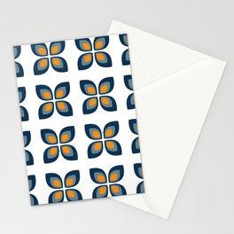 Retro Flower Seamless Pattern Stationery Cards