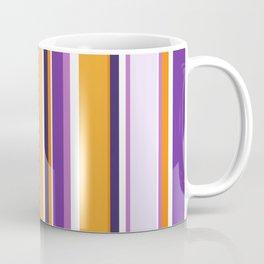 Mid Century modern retro vintage lilac magenta purple yellow orange stripes Coffee Mug