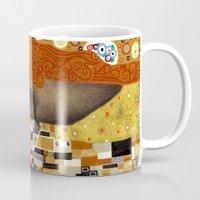 klimt Mugs featuring Klimt Me by Estúdio Marte