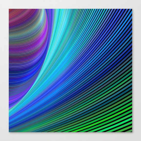 Surfing in a magic wave Canvas Print