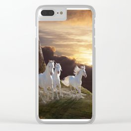 Above the Storm Clear iPhone Case