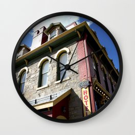 "On Greene Street - The ""Main Drag"" of Silverton, No. 2 of 3 Wall Clock"