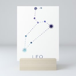 LEO STAR CONSTELLATION ZODIAC SIGN Mini Art Print