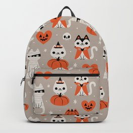 Halloween Kitties (Gray) Backpack
