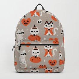 Halloween Kitties (Gray) Backpack