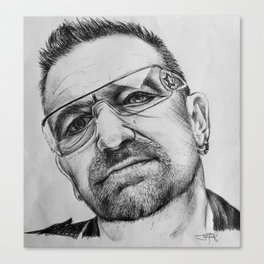 Bono Pen Sketch Canvas Print