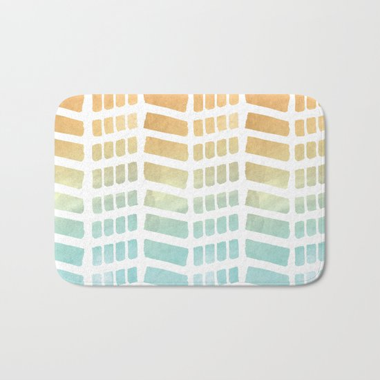 Gradient Boho Pattern Bath Mat