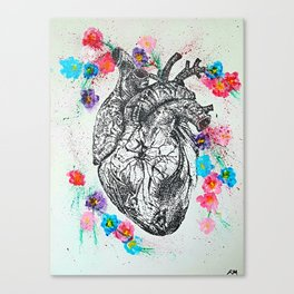 Flowering Heart Canvas Print