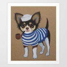 Chihuahua - Sailor Chihuahua Art Print