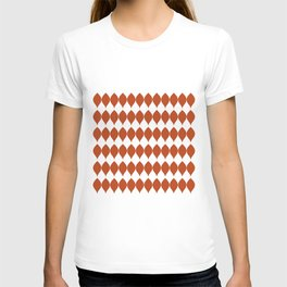 Geometric Vector Leaves in Rich Earth Tones T-shirt