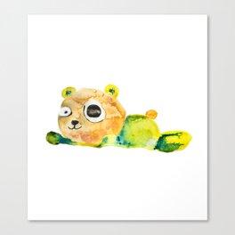 unconscious teddy bear Canvas Print