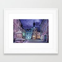 gotham Framed Art Prints featuring Gotham by Robin Curtiss
