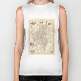 Vintage Map of Belfast Ireland (1851) Biker Tank