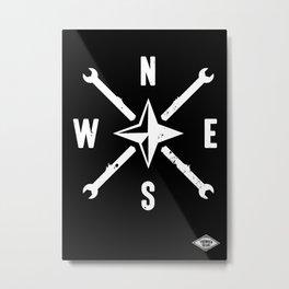 N - S - E - W Metal Print