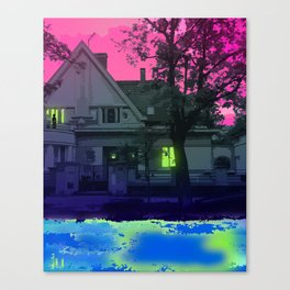 SHE WAS WAITING ON THE BALCONY Canvas Print