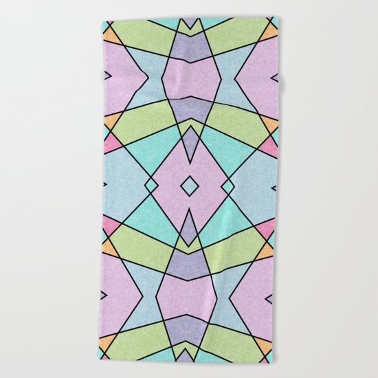 Frosted pastel Beach Towel