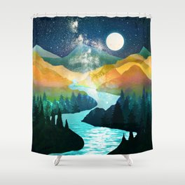 Under the Starlight Shower Curtain