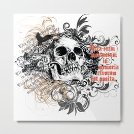 The life of the dead is retained in the memory of the living Metal Print