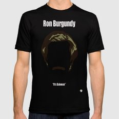 Ron Burgundy: Anchorman 2X-LARGE Black Mens Fitted Tee