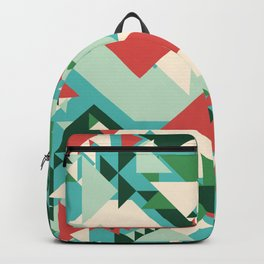Abstract geometric background. Modern overlapping large and small triangles. Backpack