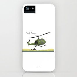 Huey Helicopter in Vietnam iPhone Case