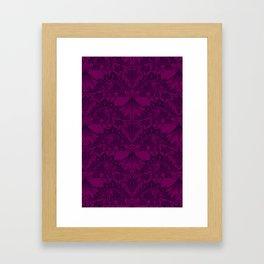 Stegosaurus Lace - Purple Framed Art Print