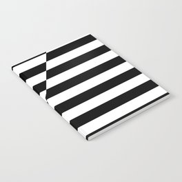 Black and White oblique Notebook