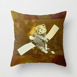 CatCurios 04C Throw Pillow