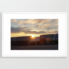Sunset @ Gaias Framed Art Print
