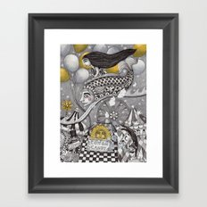 Roller Coaster Ride Framed Art Print