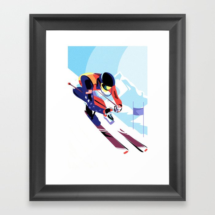 Winter Olympics Gerahmter Kunstdruck