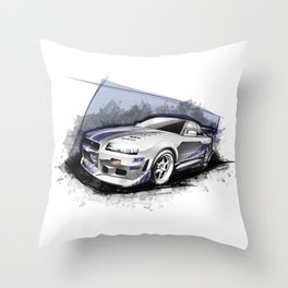 Brian's 1999 Nissan Skyline GT-R R34 (Fast and Furious Edition #3) Throw Pillow