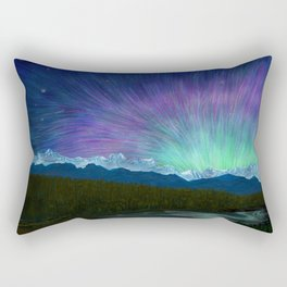 Arctic Aura - Painting Rectangular Pillow