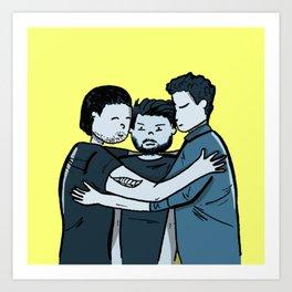 The Gang Hugs Art Print