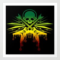 punk rock Art Prints featuring punk rock  by jhun21