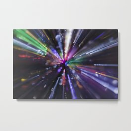 Abstract light explosion Metal Print