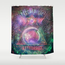 Psychedelic Astronaut  Shower Curtain
