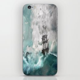 Sailing into a Storm iPhone Skin