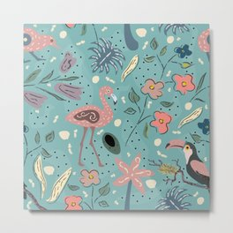 Cute Birds Metal Print