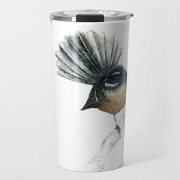 Mr Pīwakawaka, New Zealand native bird fantail Travel Mug