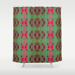 Pink and green marble Shower Curtain